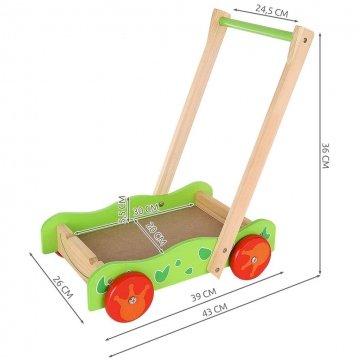 Carrellino Primi Passi In Legno Per Bambini