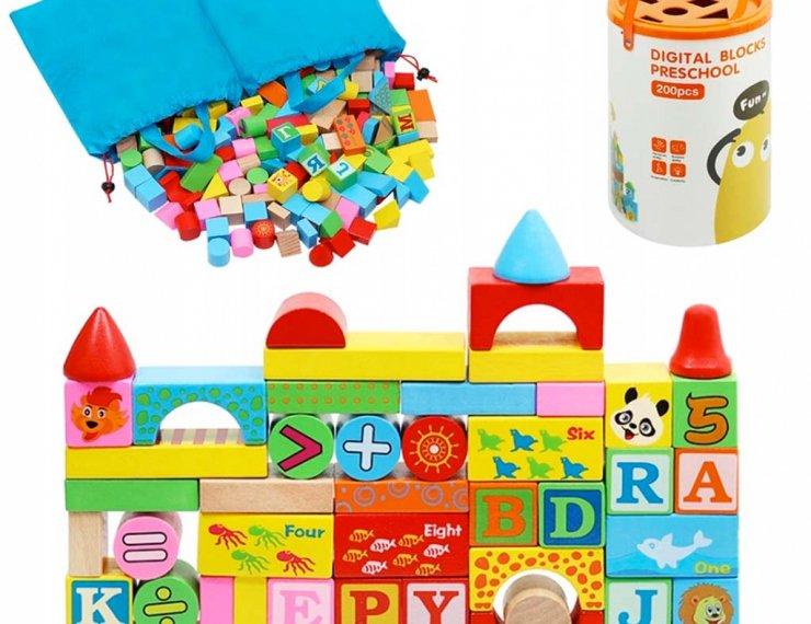 Costruzioni In Legno Colorati Per Bambini