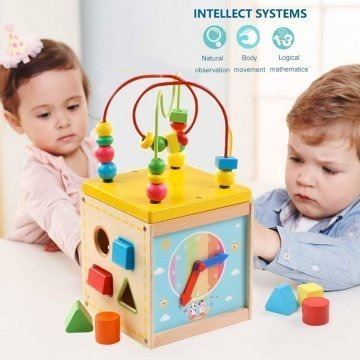 Cubo Educativo 5in1 Per Bambini In Legno