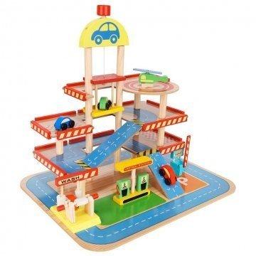 Garage Giocattolo In Legno Per Bambini