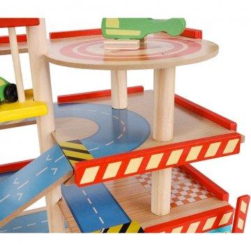 Garage Giocattolo In Legno Per Bambini Dettaglio