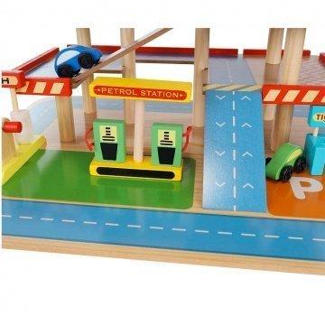 Garage Giocattolo In Legno Pompa Benzina