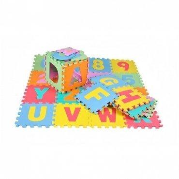 Tappeto Puzzle Bambini Atossico In Schiuma Eva 36 Lettere E Numeri