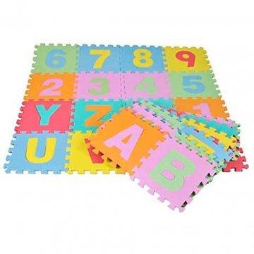 Tappeto Puzzle Per Bambini Con Lettere E Numeri