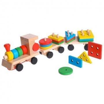 Trenino In Legno Giocattolo Bambini