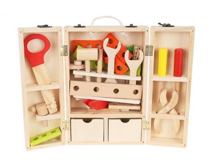 Attrezzi Giocattolo Da Lavoro Per Bambini Set Con Scatola Da Carpentiere