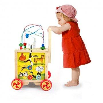 Carrello Primi Passi In Legno Per Bambini