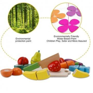 Frutta E Verdura Giocattolo In Legno Colorati