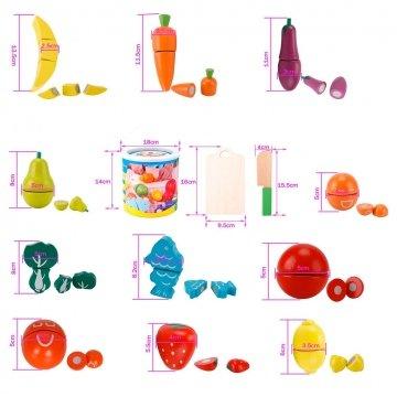 Frutta E Verdura Giocattolo In Legno Dettagli