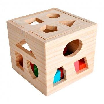 Gioco A Incastro Cubo Con Forme In Legno
