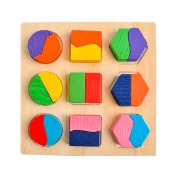 Gioco Forme Geometriche In Legno Per Bambini Da 1 Anno