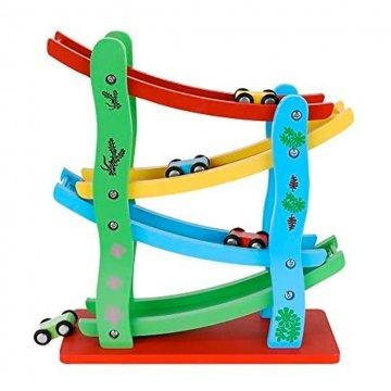 Pista Macchinine In Legno Per Bambini 4 Rampe