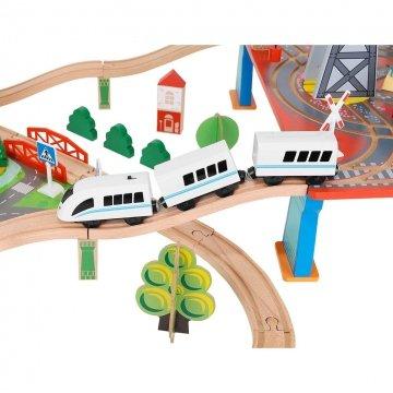 Pista Trenino In Legno Per Bambini Dettaglio