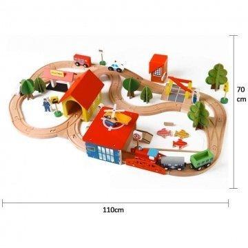 Pista Treno In Legno Per Bambini Dimensioni
