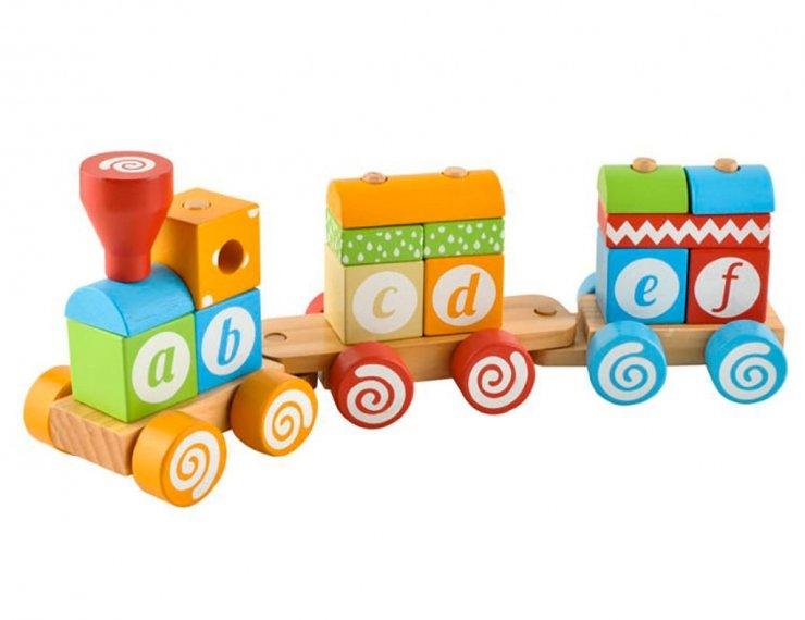 Trenino Di Legno Con Lettere Per Bambini 3 Anni