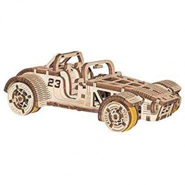 Roadster Puzzle 3d Meccanico In Legno Wooden City