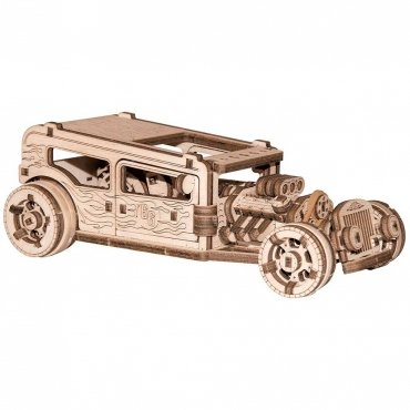 Puzzle 3d In Legno Hot Rod