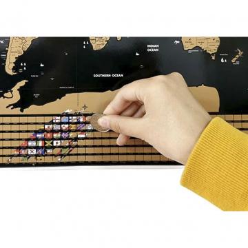 Mappa Del Mondo Da Grattare Con Una Monetina