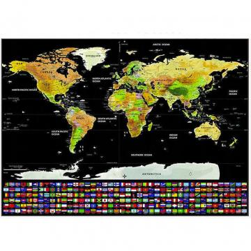 Mappa Del Mondo Da Grattare Mappamondo