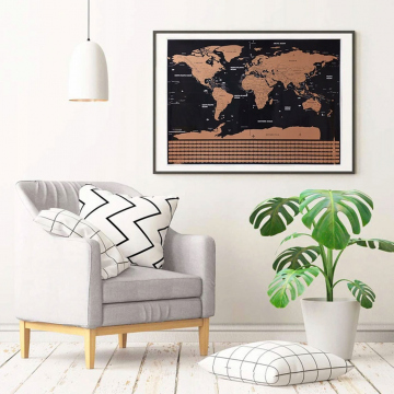 Mappa Del Mondo Da Grattare Per Ragazzi