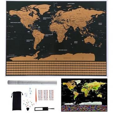 Mappa Del Mondo Da Grattare Per Ragazzi E Adulti