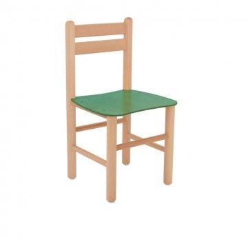 Sedia In Legno Colorata Allegra Legno Di Faggio Verde