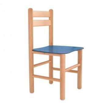 Sedia In Legno Colorata Blu