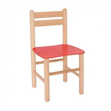 Sedia In Legno Colorata Rossa
