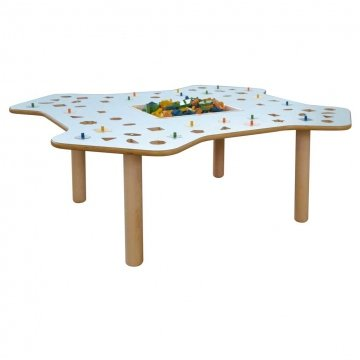 Tavolo Educativo Montessori Con Forme Geometriche