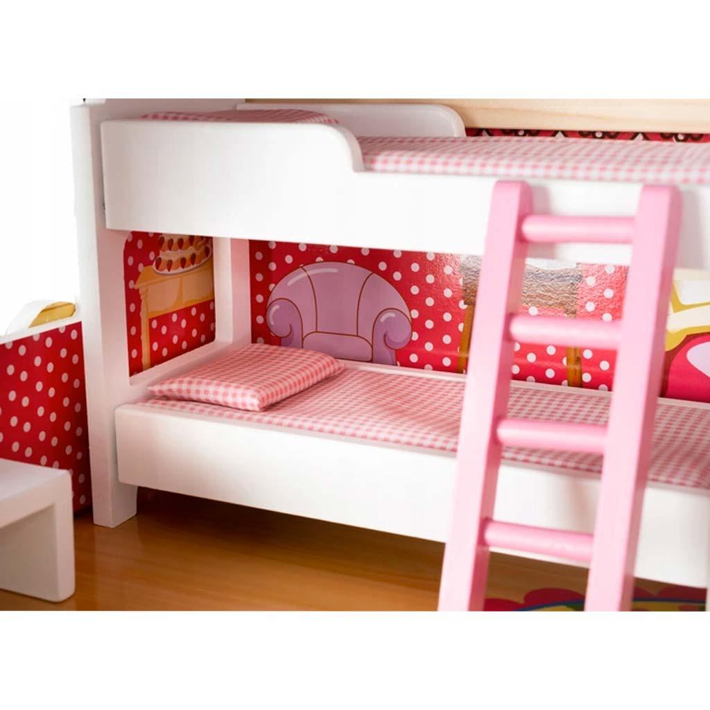 Casa delle bambole in legno a 3 piani con stanze, mobili e ...