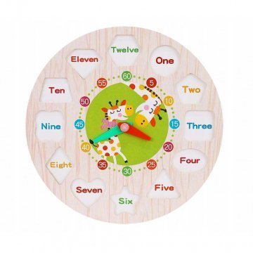 Orologio Puzzle In Legno Numeri Inglese