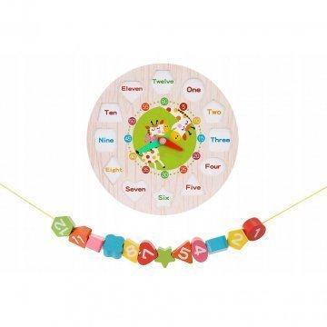 Orologio Puzzle In Legno Per Bambini