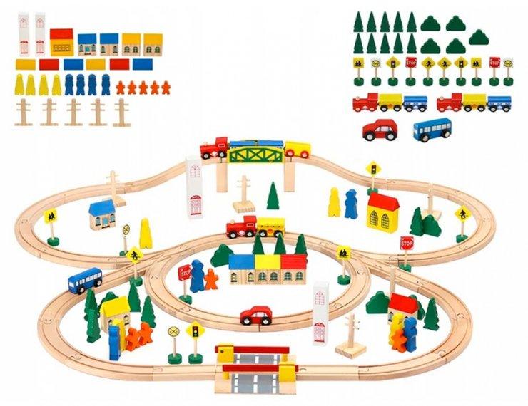 Pista Trenino In Legno Per Bambini