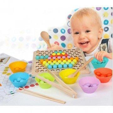 Gioco Palline Colorate Per Bambini In Legno