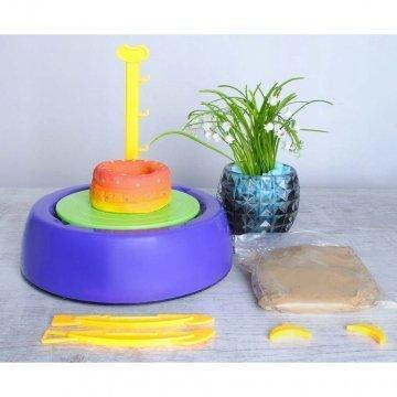 Tornio Per Ceramica Per Bambini Con Colori E Accessori