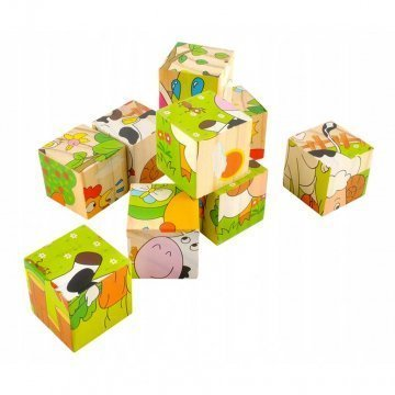 Cubi Puzzle In Legno