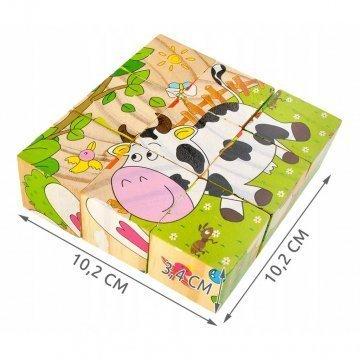 Cubi Puzzle In Legno Per Bambini