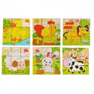 Cubi Puzzle Per Bambini Animali