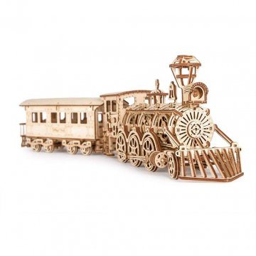 Locomotiva A Vapore Modellino In Legno