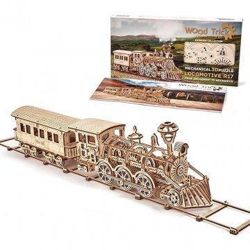 Locomotiva A Vapore Modellino In Legno Puzzle 3d
