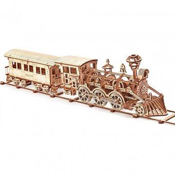 Locomotiva A Vapore Modellino In Legno Wood Trick