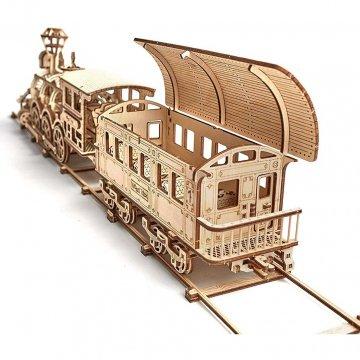 Locomotiva A Vapore Modellino Puzzle 3d Legno