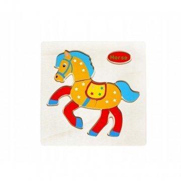 Puzzle In Legno Per Bambini Cavallino