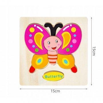 Puzzle In Legno Per Bambini Farfalla