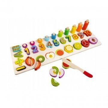 Puzzle Numeri E Frutta Da Tagliare