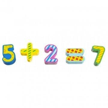 Puzzle Numeri E Frutta Legno