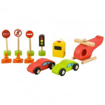 Garage Giocattolo Per Bambini Con Segnali