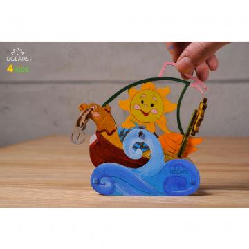 Modello 3d Puzzle Da Colorare Per Bambini