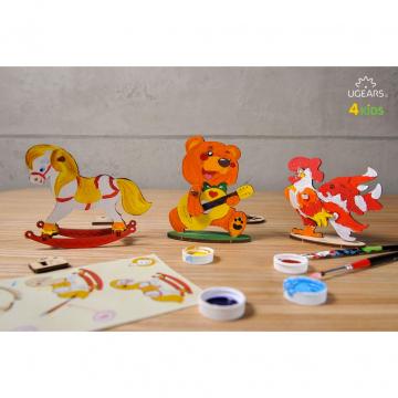 Puzzle In Legno Per Bambini Orsetto Ugears