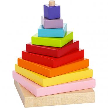 Piramide Di Legno Colorata Per Bambini